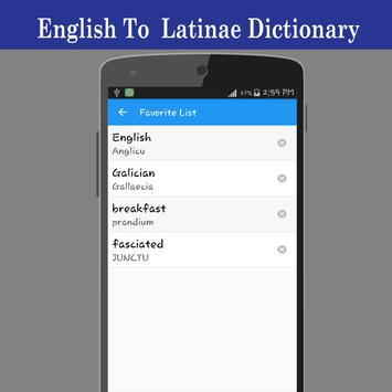 English To Latin Dictionary screenshot 4