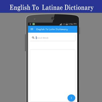 English To Latin Dictionary poster
