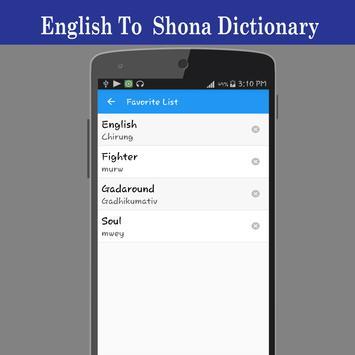 English To Shona Dictionary screenshot 4