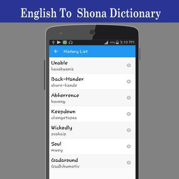 English To Shona Dictionary screenshot 3