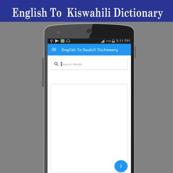 English To Swahili Dictionary poster