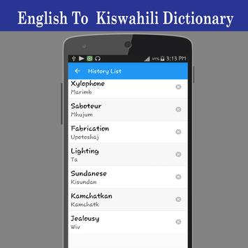 English To Swahili Dictionary screenshot 10
