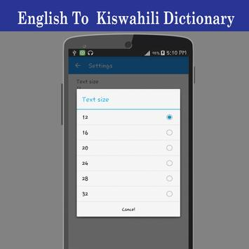 English To Swahili Dictionary screenshot 20