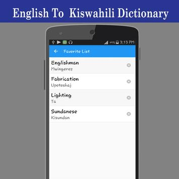 English To Swahili Dictionary screenshot 4