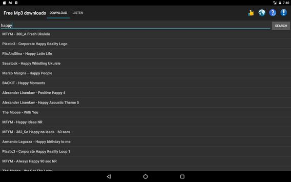 Free Mp3 Downloads screenshot 6