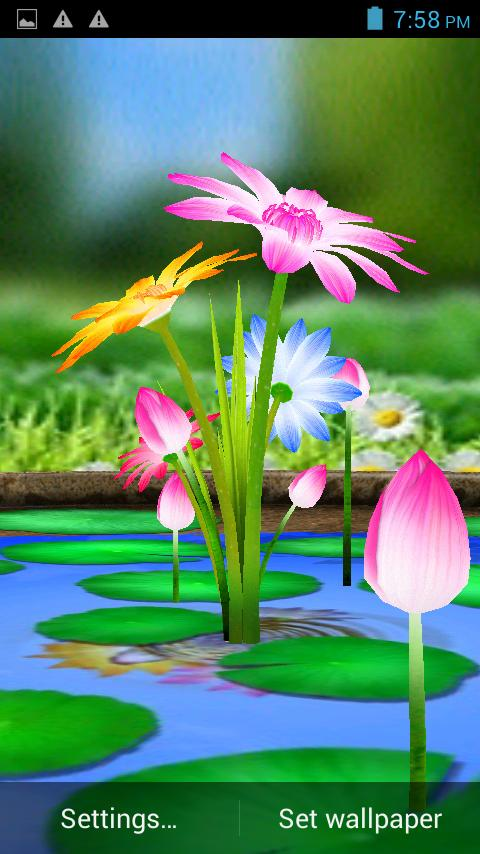 3d Flowers Touch Wallpaper For Android Apk Download