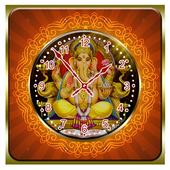 Ganesh Ji Clock Live Wallpaper icon