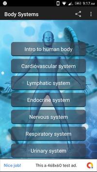 Human Body Anatomy Organ Systems poster