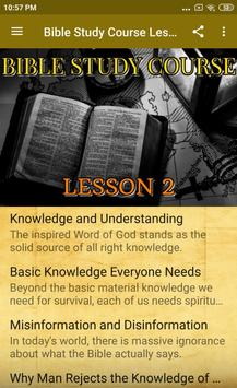 Bible Study Course Lesson 2 poster