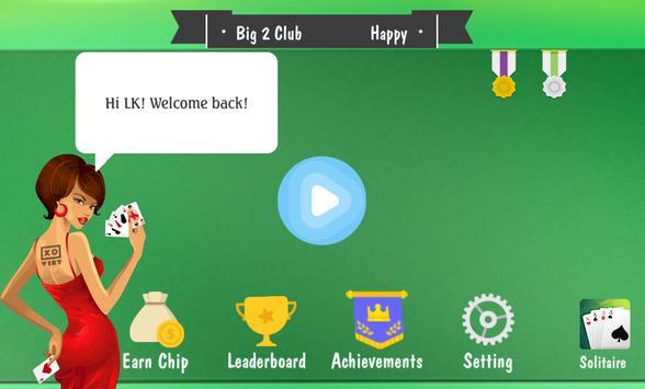 Big 2 - Chinese Poker Offline screenshot 4