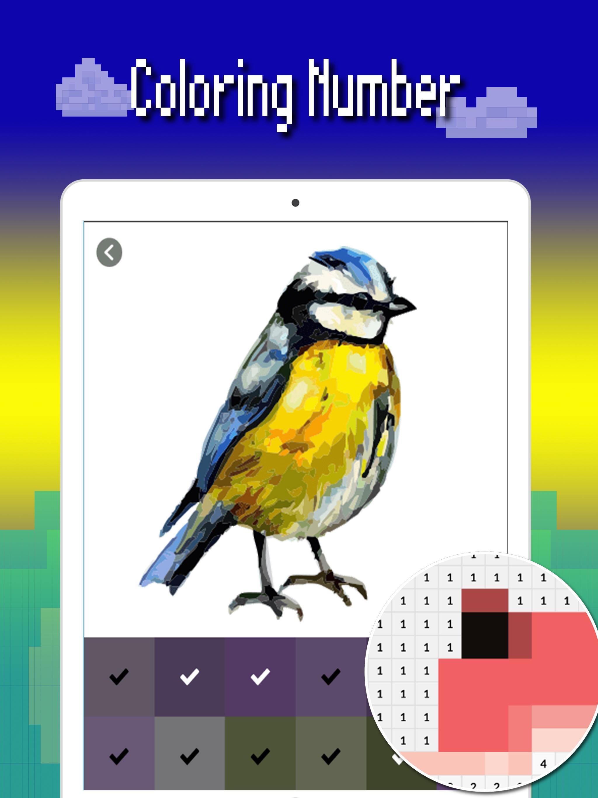 Android Icin Kuslar Renk Sayisi Piksel Sanat Kus Boyama 2019
