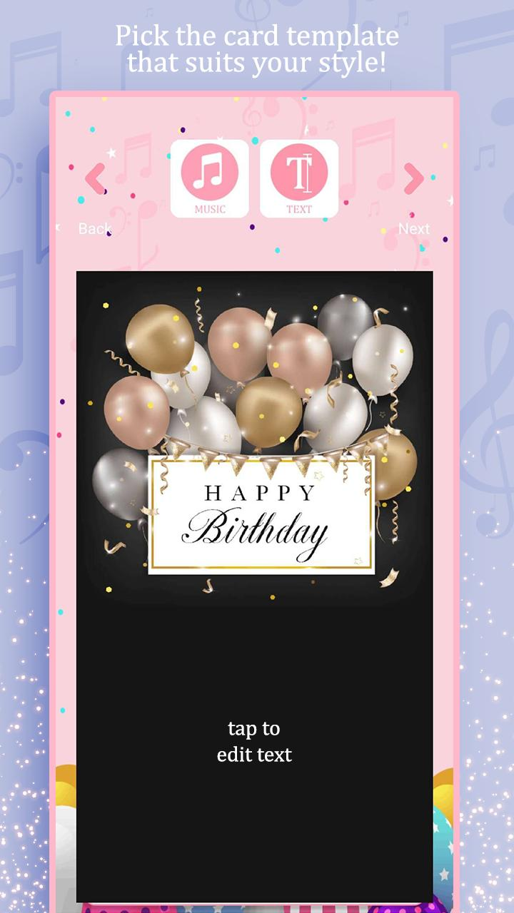 Carte Anniversaire Musicale Pour Android Telechargez L Apk