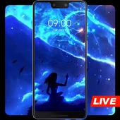 Blue beautiful star river live wallpaper icon