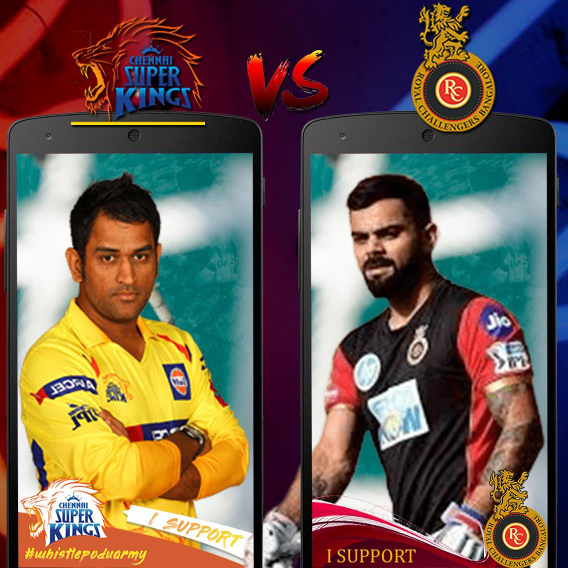 Csk Vs Rcb Selfie Live Ipl Stream Photo Editor For Android Apk Download