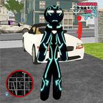 Neon Iron Stickman Rope Hero City Gangstar Mafia APK