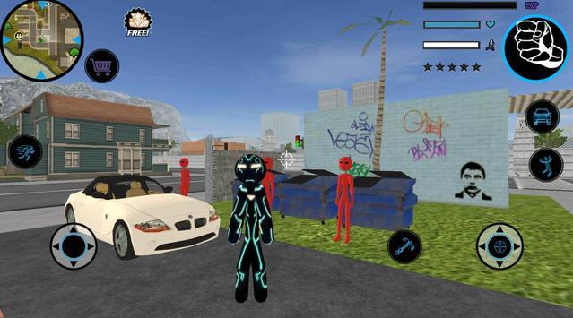 Neon Iron Stickman screenshot 4