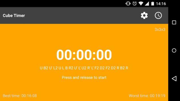 Cube timer screenshot 8