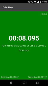 Cube timer screenshot 1