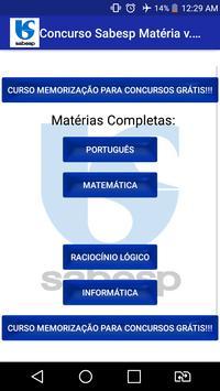 Concurso Sabesp Apostilas Matéria Grátis Prova !!! poster