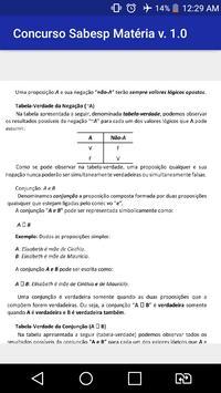 Concurso Sabesp Apostilas Matéria Grátis Prova !!! screenshot 1