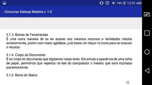 Concurso Sabesp Apostilas Matéria Grátis Prova !!! screenshot 2