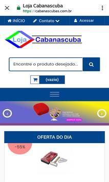 Loja Virtual Cabanascuba screenshot 4