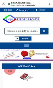 Loja Virtual Cabanascuba screenshot 1
