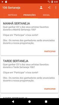 106 Sertaneja screenshot 1