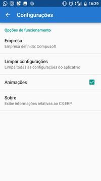 CS ERP screenshot 2