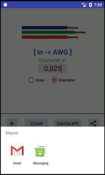 AWG -> mm²/in² -> AWG - Converter screenshot 5