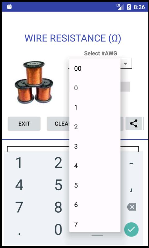 AWG - Wire Resistance - Calculator for Android - APK Download