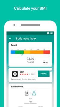 Monitor de peso y calculadora de IMC captura de pantalla 3