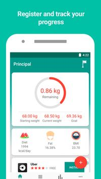 Monitor de peso y calculadora de IMC Poster