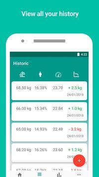 Monitor de peso y calculadora de IMC captura de pantalla 1