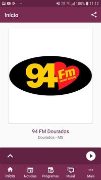 94 FM Dourados screenshot 1