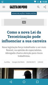 Gazeta do Povo screenshot 2
