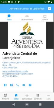 Igreja Adventista Central de Laranjeiras screenshot 1