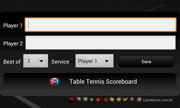 Table Tennis Scoreboard screenshot 1