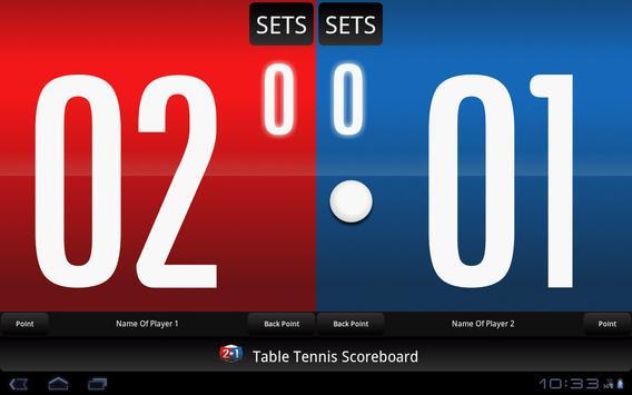 Table Tennis Scoreboard screenshot 2