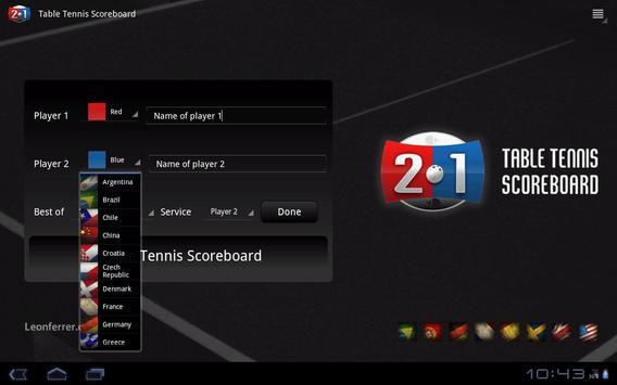 Table Tennis Scoreboard screenshot 3