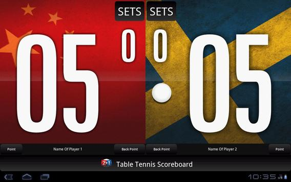 Table Tennis Scoreboard screenshot 4