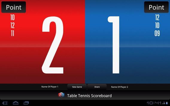 Table Tennis Scoreboard screenshot 6