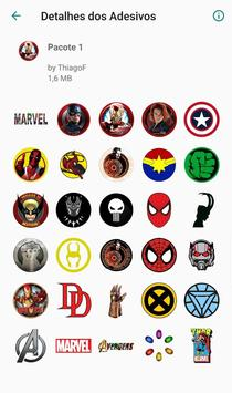 WAStickerApps - Figurinhas Whatsapp DC x Marvel poster