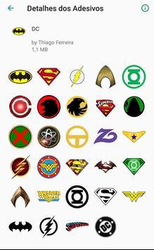 WAStickerApps - Figurinhas Whatsapp DC x Marvel screenshot 1