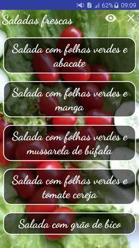 Saladas frescas poster
