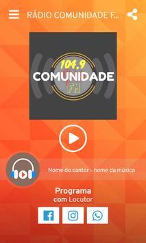 Rádio Comunidade FM 104,9 Pedralva-MG screenshot 1