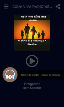 Água viva radio web gospel Bento Gonçalves 截图 1