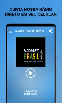 RADIO DIREITO BRASIL poster