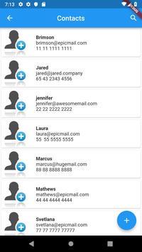 Contacts list screenshot 1