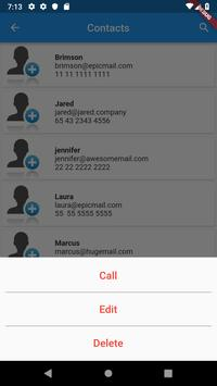 Contacts list screenshot 2